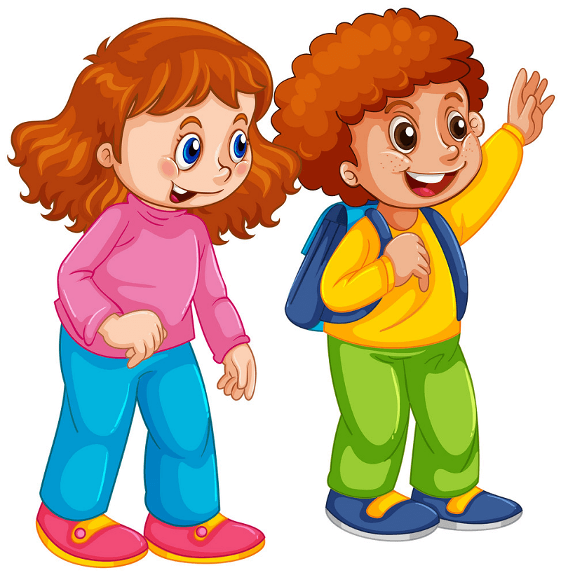 Boy and Girl clipart 1