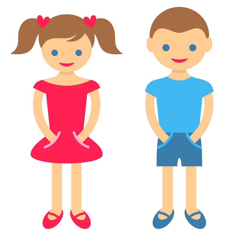 Boy and Girl clipart 2