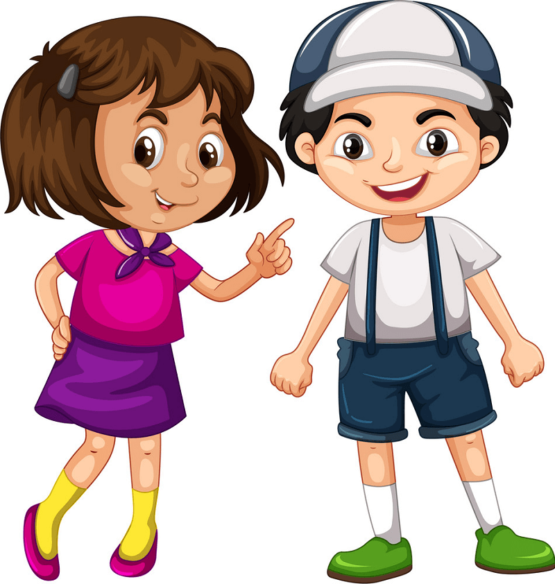 Boy and Girl clipart free