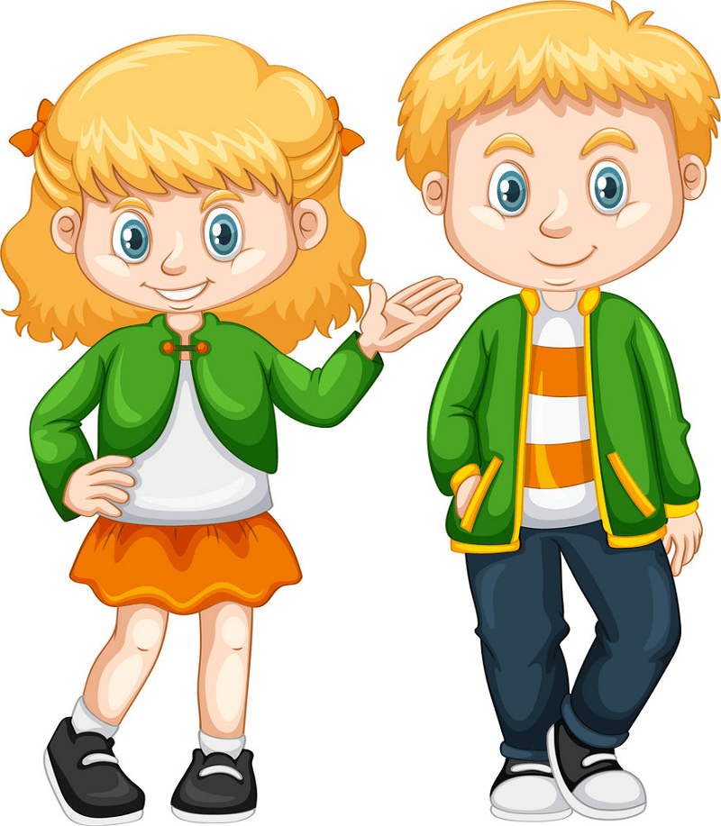 Boy and Girl clipart png