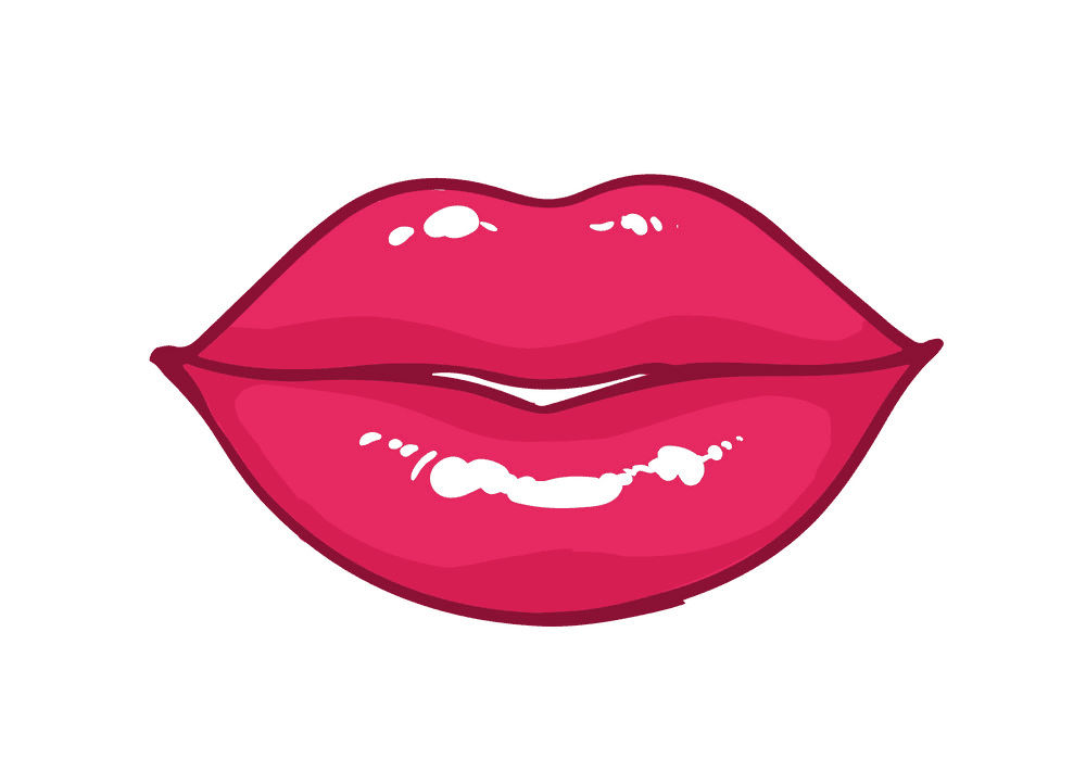 Bright Pink Lips clipart