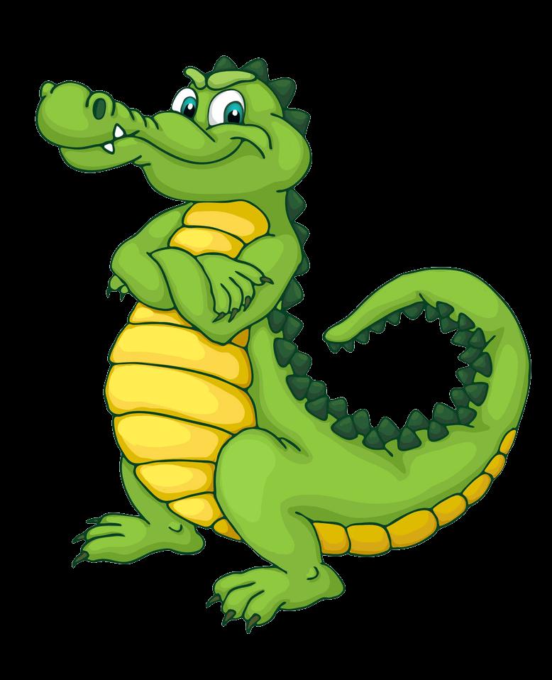 Cartoon Alligator clipart transparent