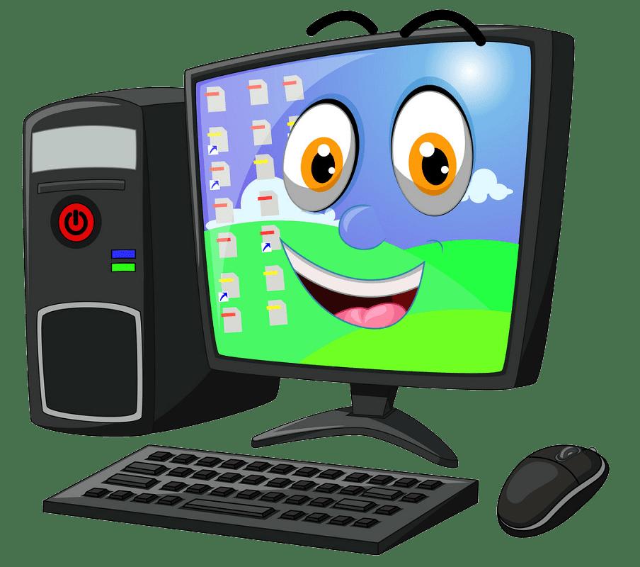 Cartoon Computer clipart transparent