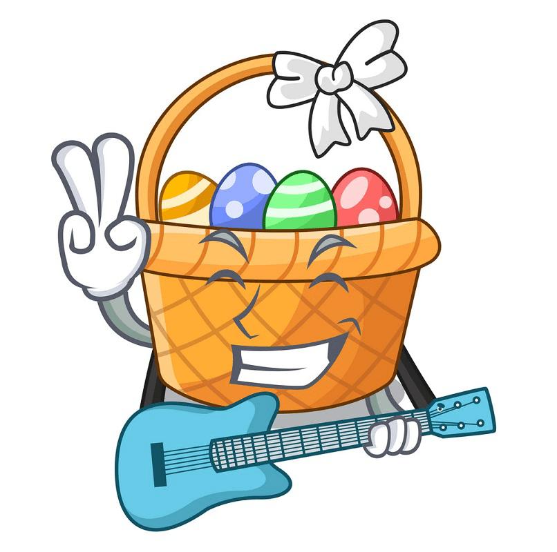 Cartoon Easter Basket clipart