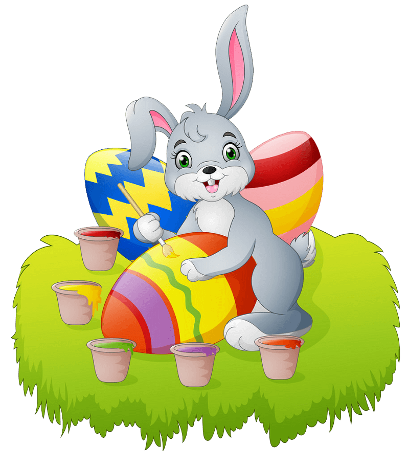 Cartoon Easter Rabbit clipart transparent