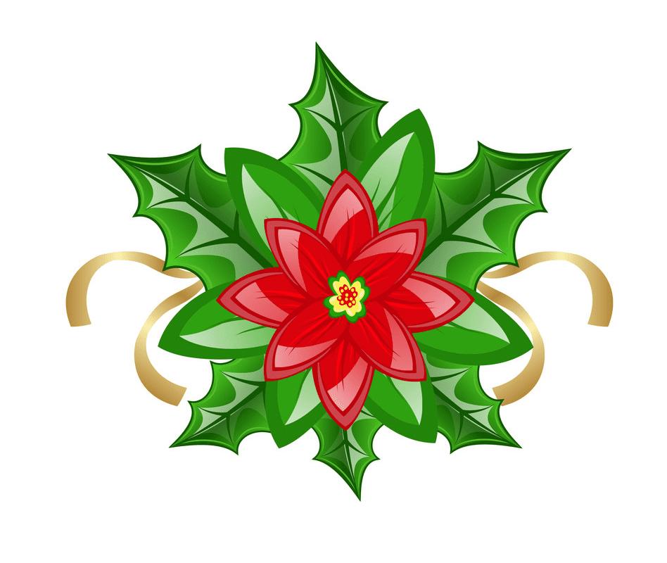 Christmas Poinsettia clipart 2