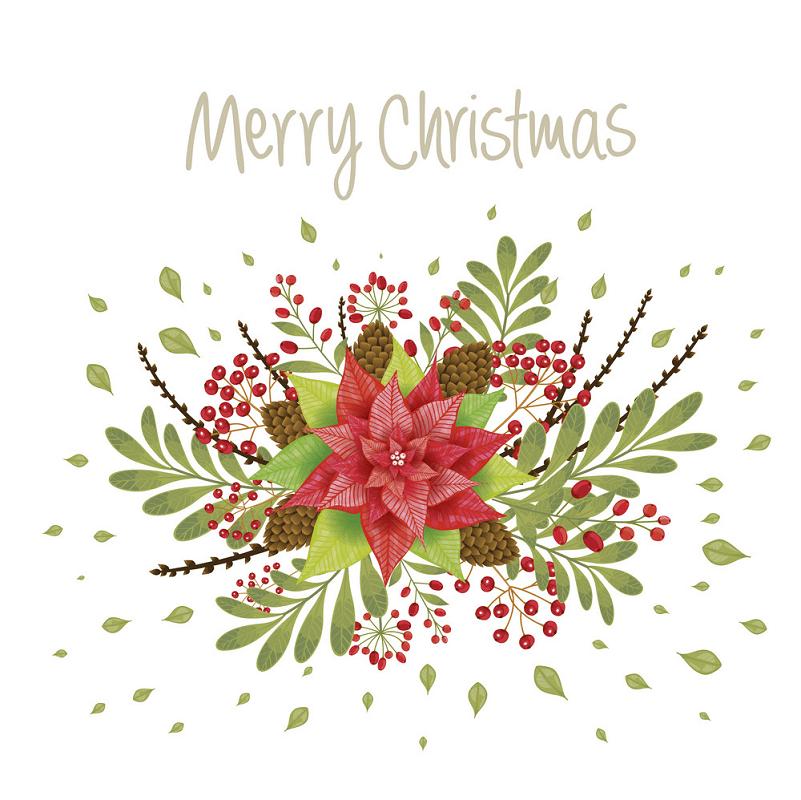 Christmas Poinsettia clipart 3