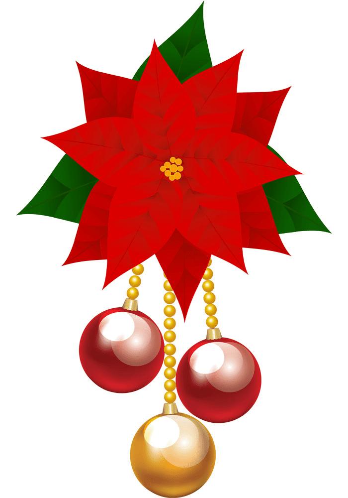 Christmas Poinsettia clipart 4