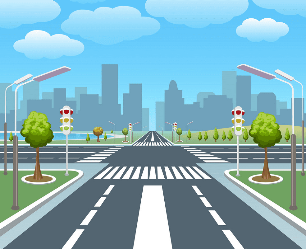 City Road clipart