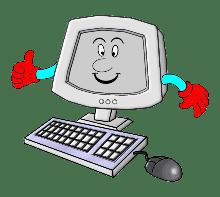 Clipart Cartoon Computer transparent