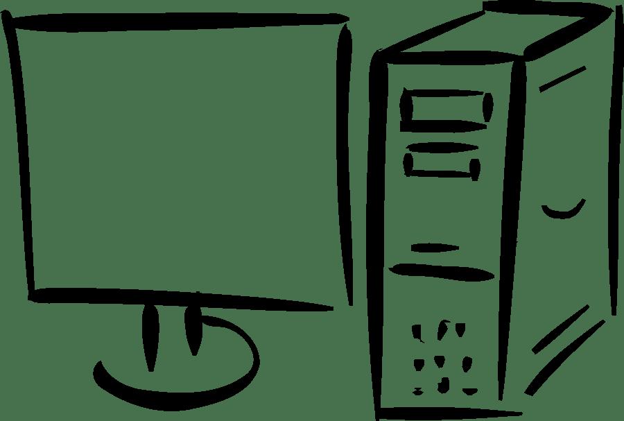 Clipart Computer Outline transparent