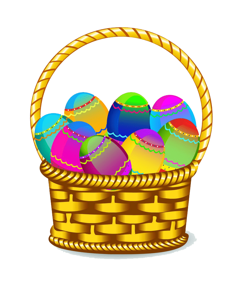 Clipart Easter Basket transparent free
