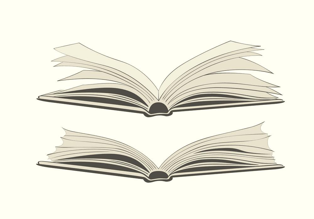 Clipart Open Book 1