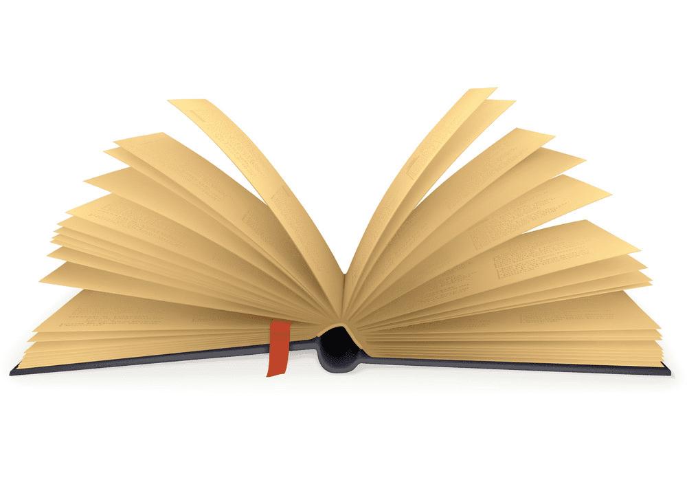 Clipart Open Book 4