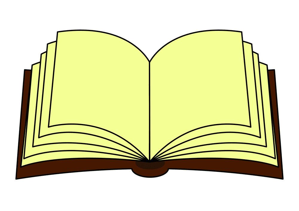 Clipart Open Book 7