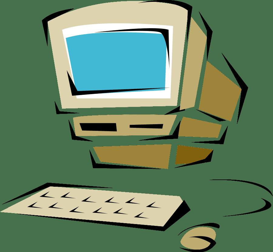 Computer clipart transparent 1