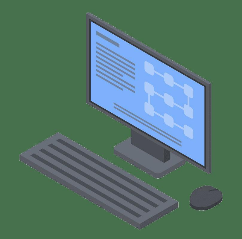 Computer clipart transparent 2