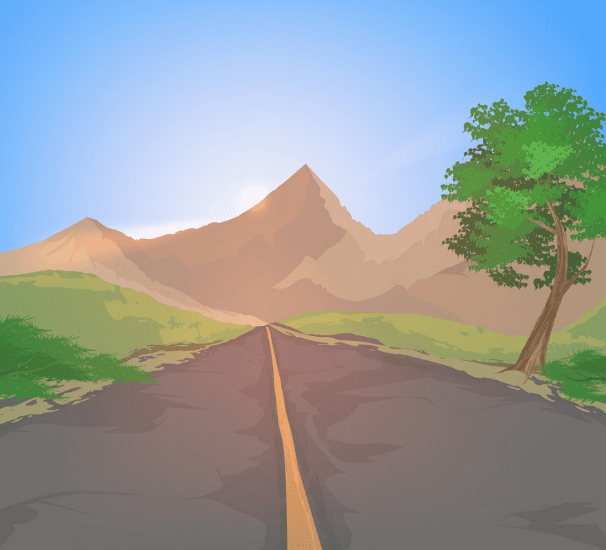 Country Road clipart free