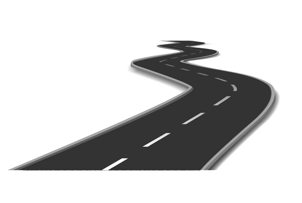 Curved Road clipart