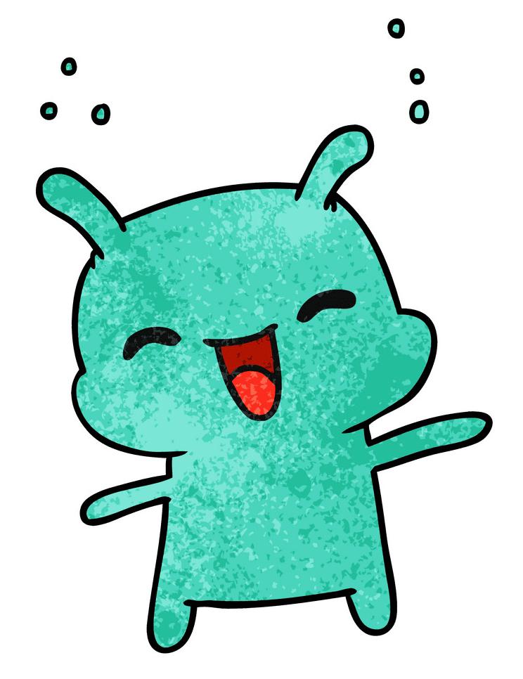 Cute Alien clipart 1