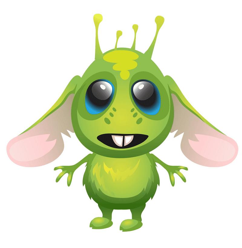 Cute Alien clipart 2