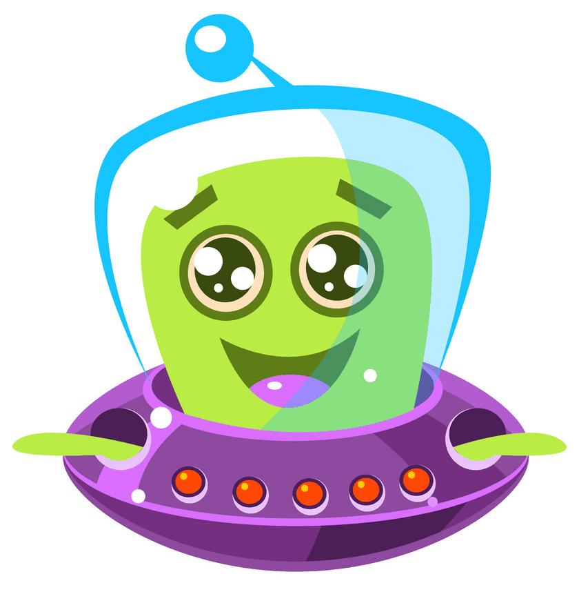Cute Alien clipart 4