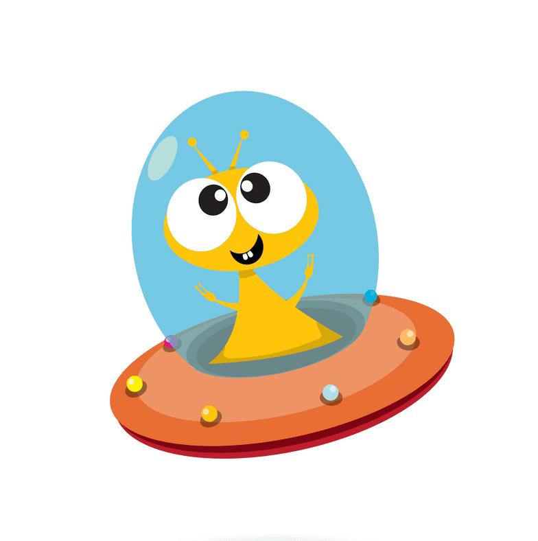 Cute Alien clipart 5