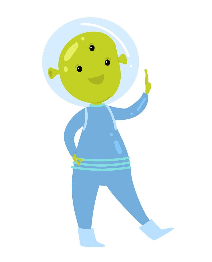 Cute Alien clipart 6