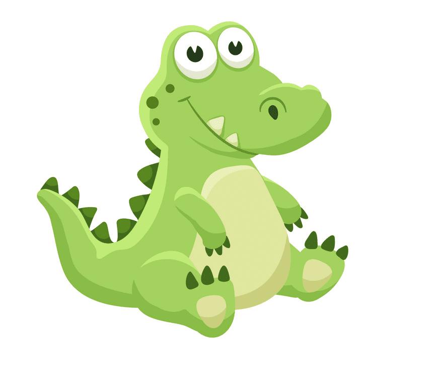 Cute Alligator clipart 1