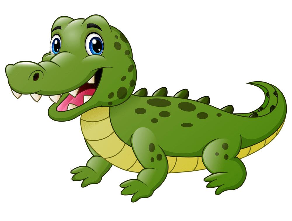 Cute Alligator clipart 2