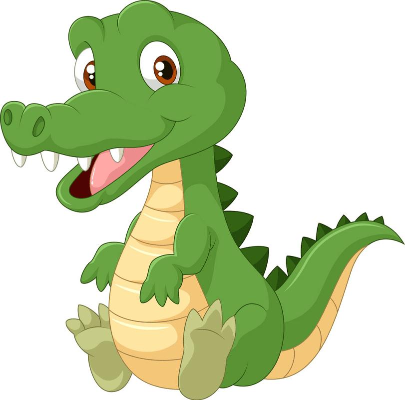 Cute Alligator clipart free