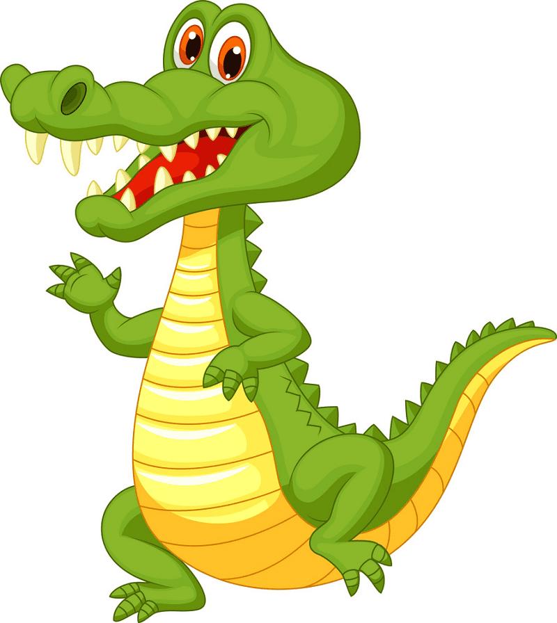Cute Alligator clipart png