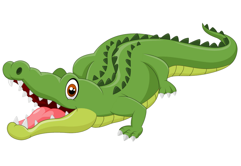 Cute Alligator clipart transparent 1