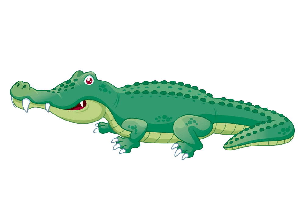Cute Alligator clipart transparent 3