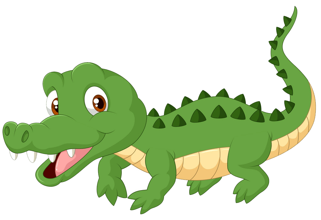 Cute Alligator clipart transparent 6