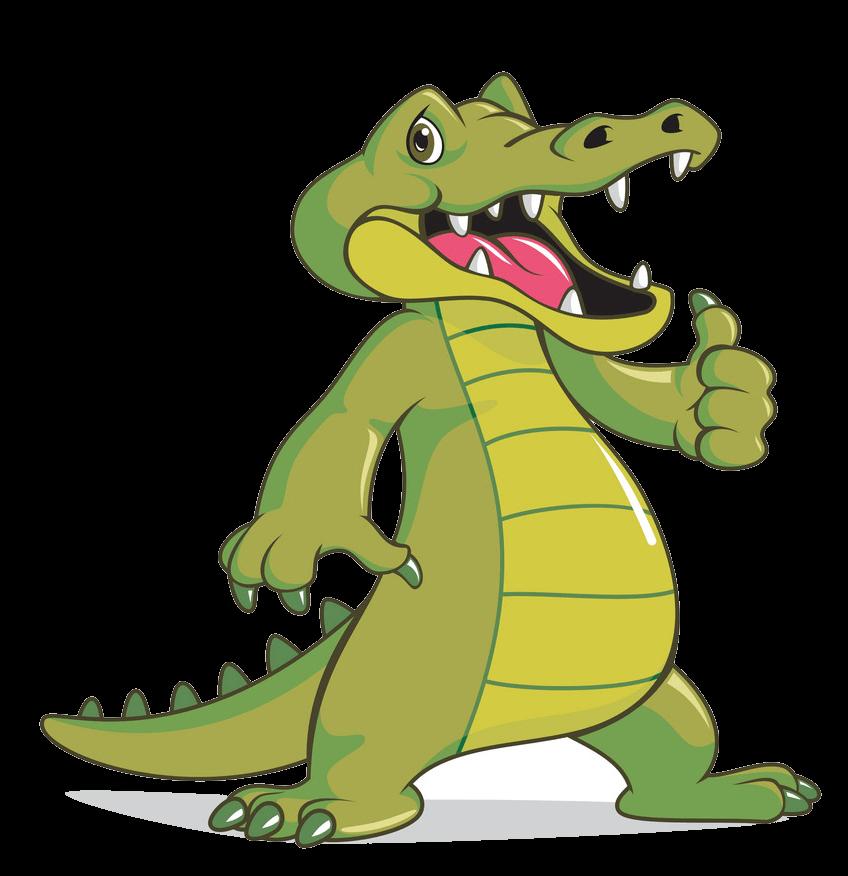 Cute Alligator clipart transparent 7