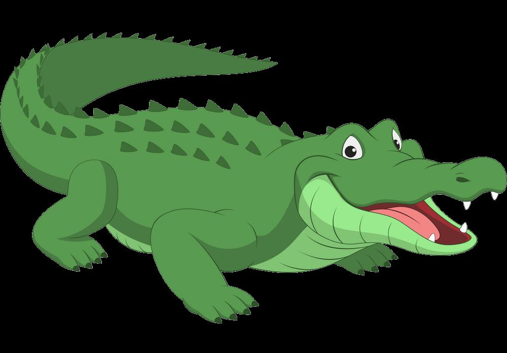 Cute Alligator clipart transparent