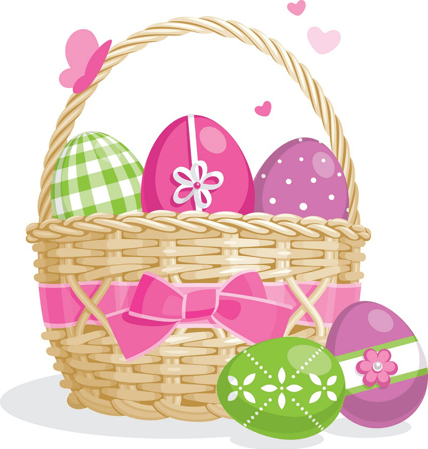 Cute Easter Basket clipart png