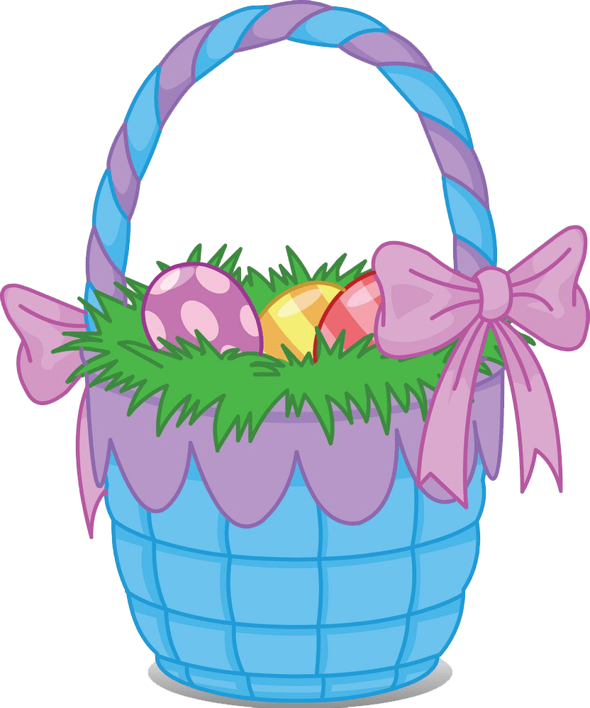 Cute Easter Basket clipart transparent