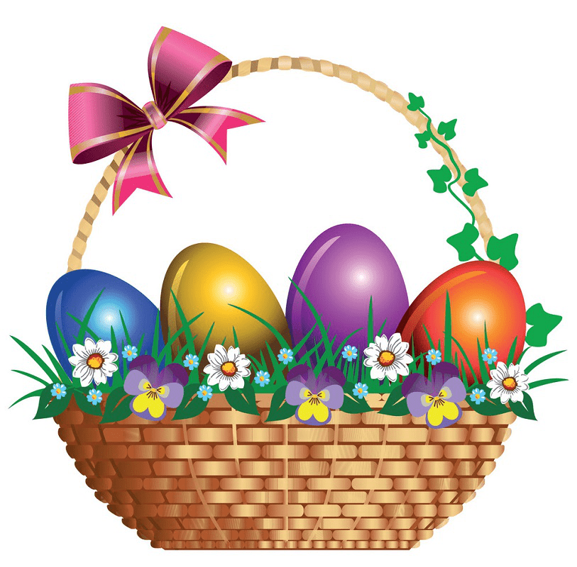 Cute Easter Basket clipart