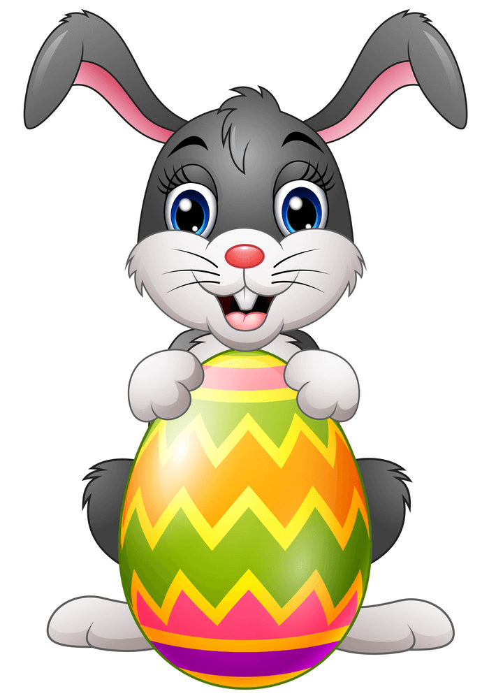 Cute Easter Bunny clipart free
