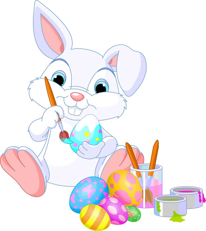 Cute Easter Rabbit clipart free