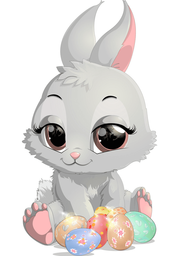 Cute Easter Rabbit clipart png