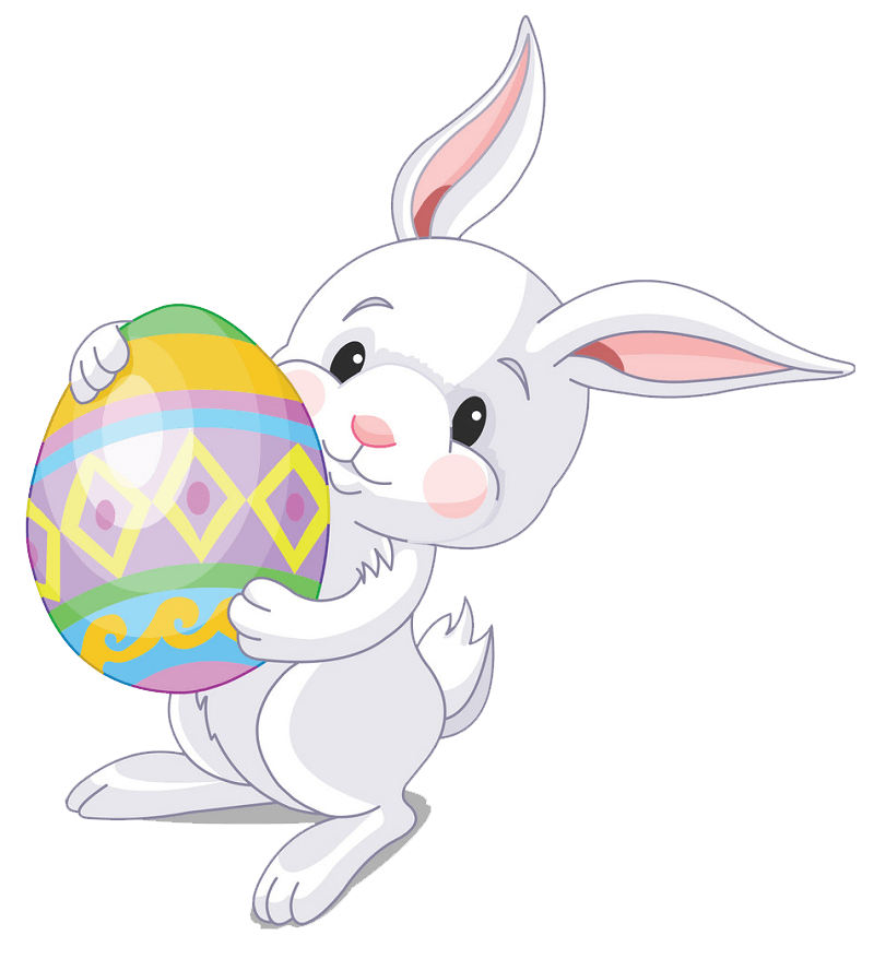 Cute Easter Rabbit clipart transparent
