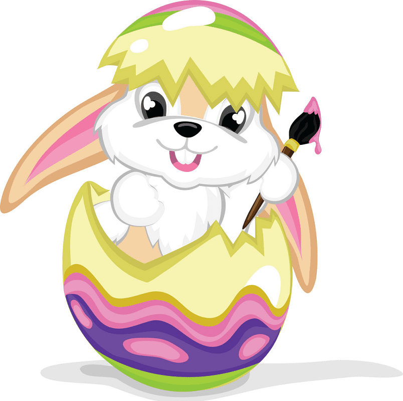 Cute Easter Rabbit clipart