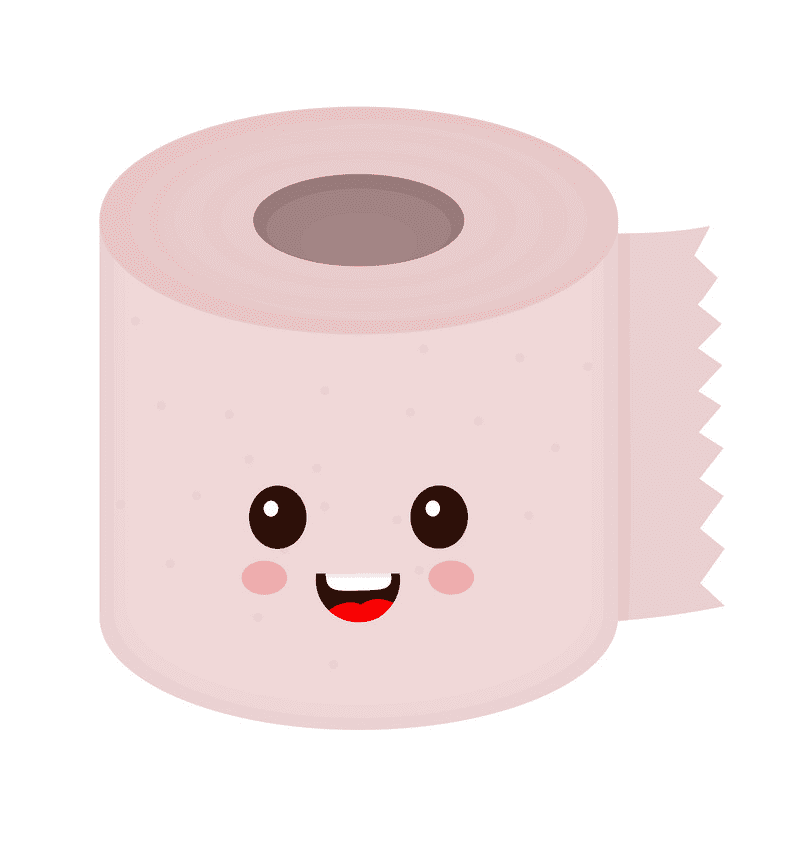Cute Toilet Paper clipart png