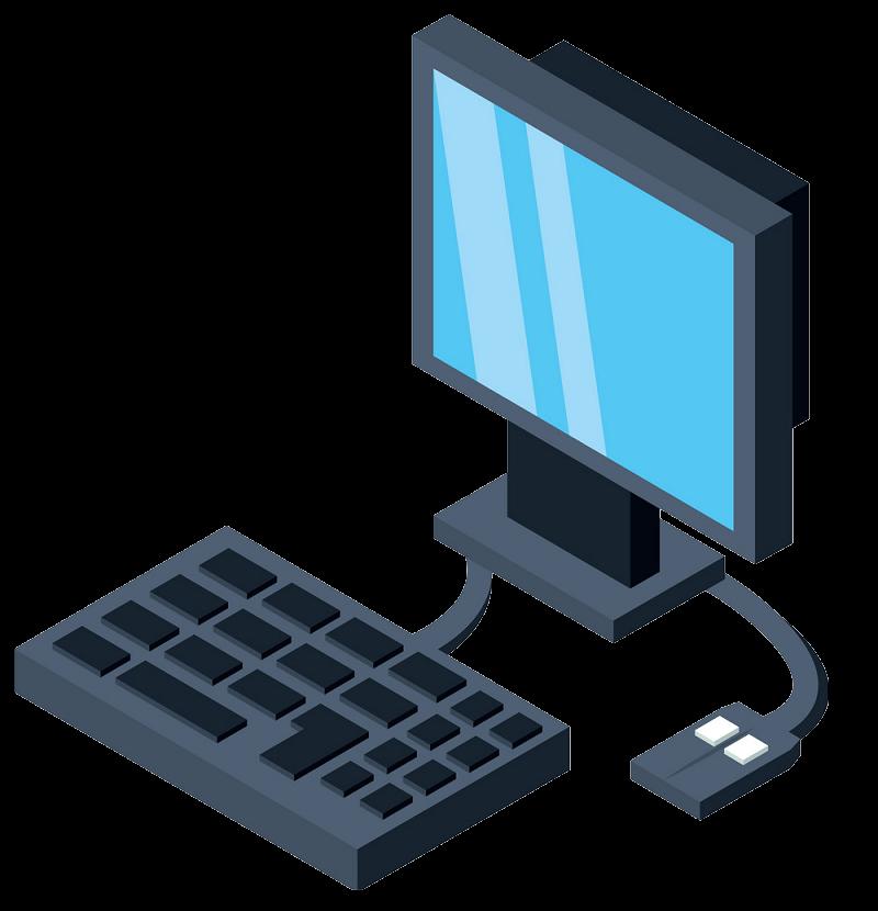 Desk Computer clipart transparent