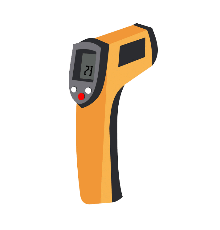 Digital Thermometer clipart transparent