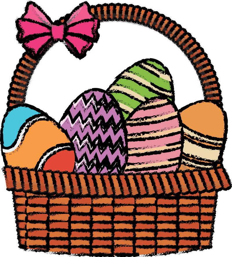 Doodle Easter Basket clipart