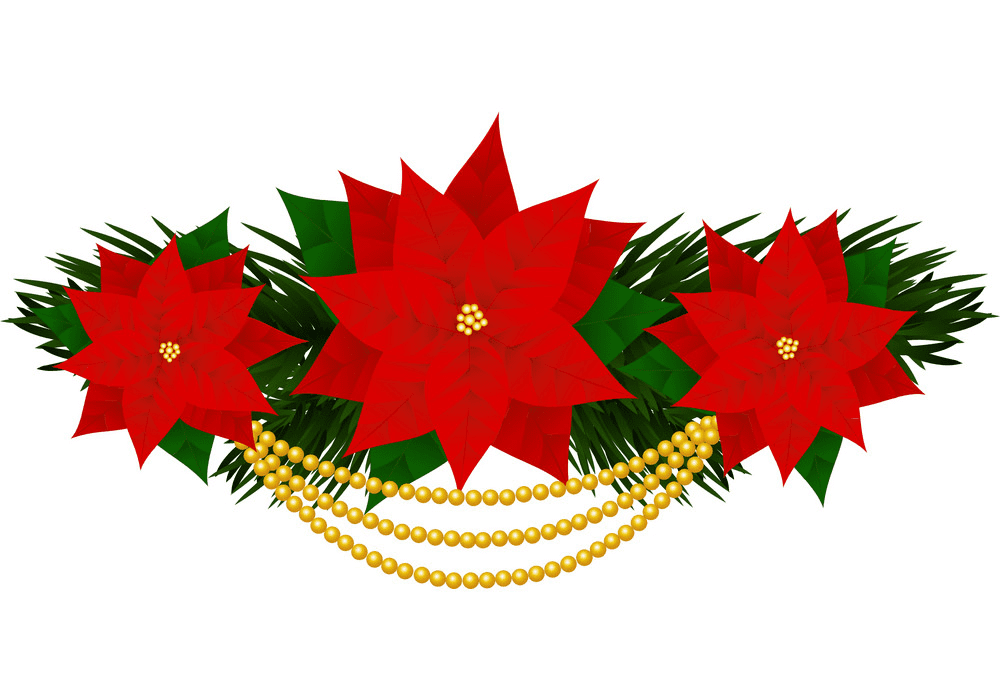 Download Christmas Poinsettia clipart